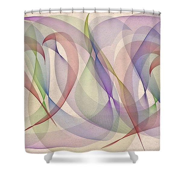A L S Awareness  Shower Curtain