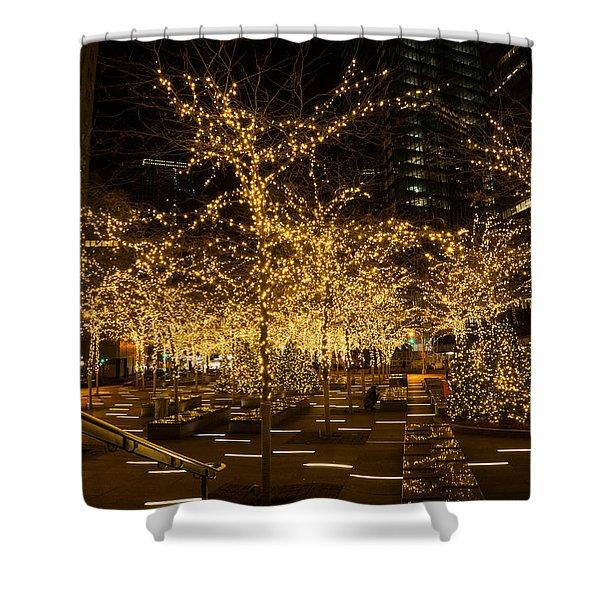 A Little Golden Garden In The Heart Of Manhattan New York City Shower Curtain