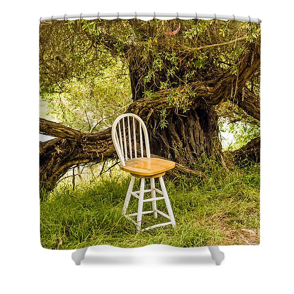 A Little Solitude Shower Curtain
