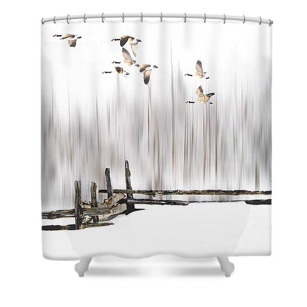 A Little Winter Magic Shower Curtain