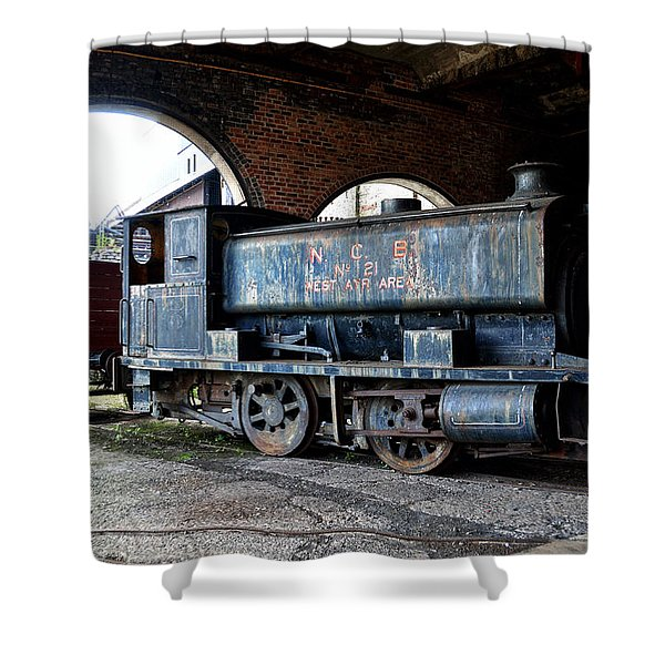 A Locomotive At The Colliery Shower Curtain