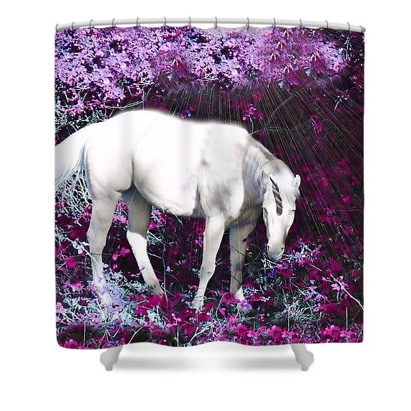 A Magical Unicorn In My Garden Shower Curtain