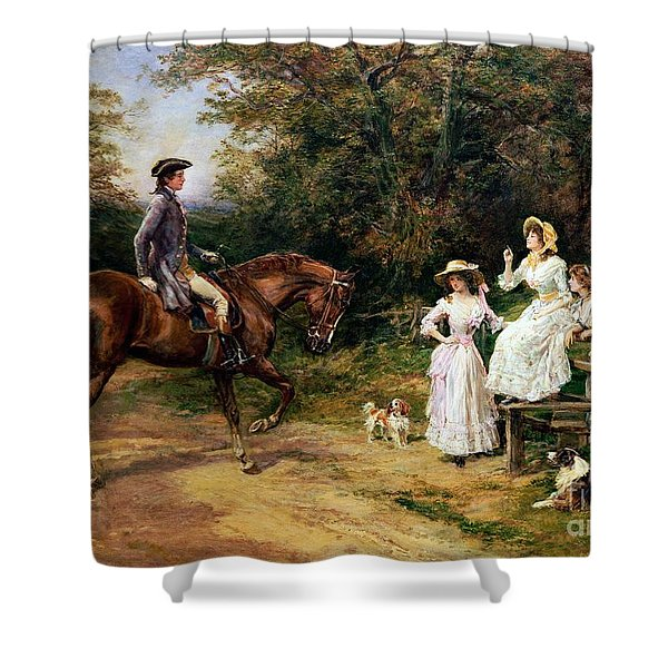 A Meeting By A Stile  Shower Curtain