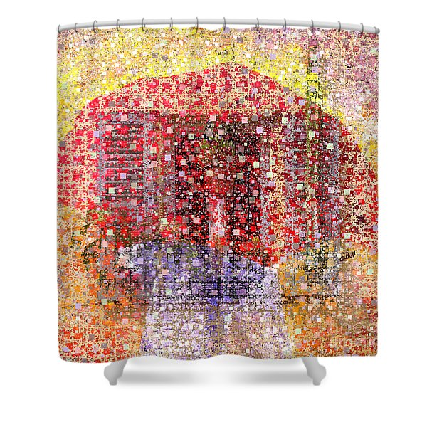 A Mix Of Rain And Snow Today Shower Curtain