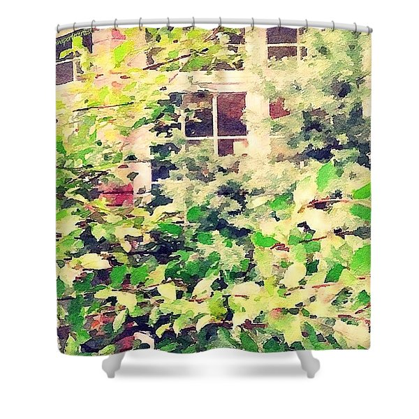 A Natural Screen - Front Bay Window Shower Curtain