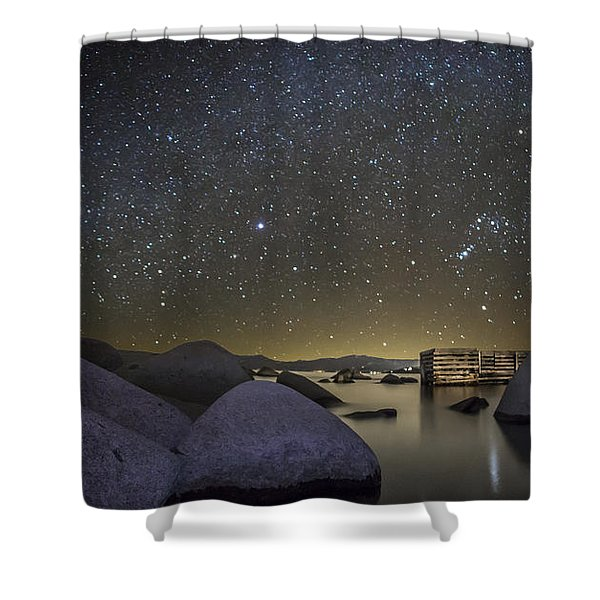 A Night At Speedboat Shower Curtain