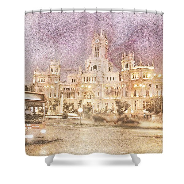 A Night In Madrid  Shower Curtain