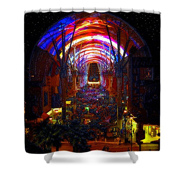 A Night On Fremont Street Shower Curtain