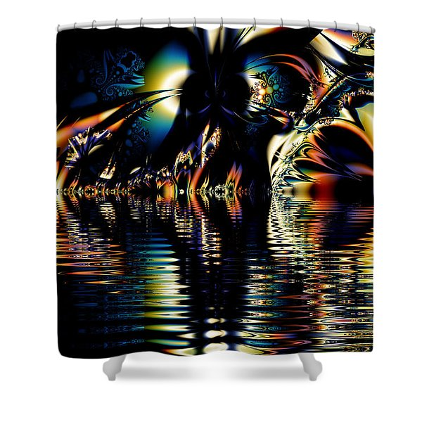A Night On The Water Shower Curtain