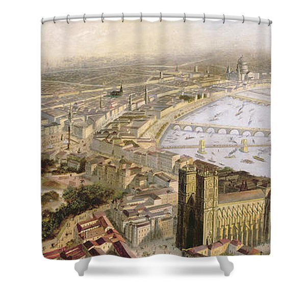 A Panoramic View Of London Shower Curtain