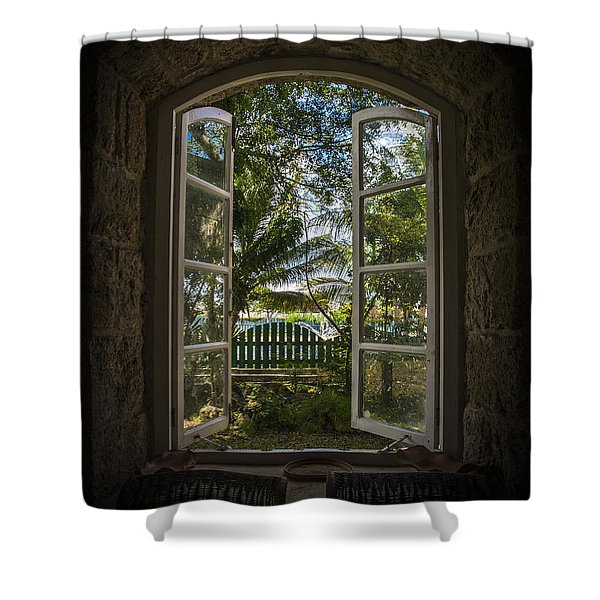 A Paradise Awaits Shower Curtain