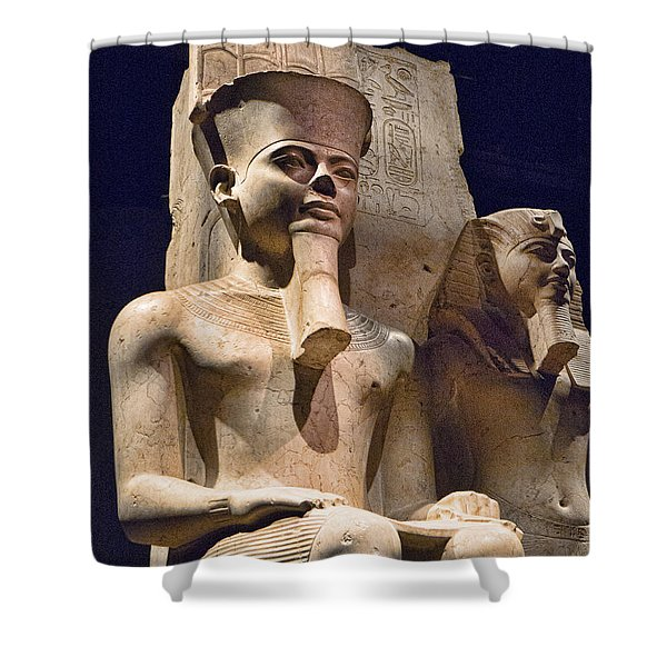 A Pharaoh And His Queen Shower Curtain