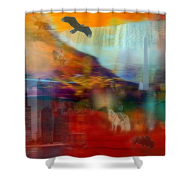 A Piece Of America Shower Curtain