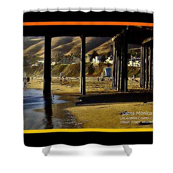 A Pier View Of Santa Monica Shower Curtain