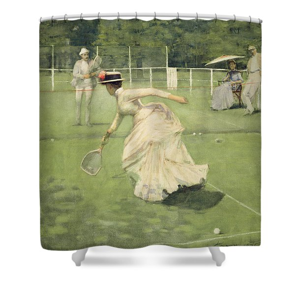 A Rally, 1885 Shower Curtain
