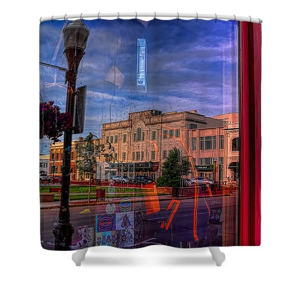 A Reflection Of Wausau's Grand Theater Shower Curtain