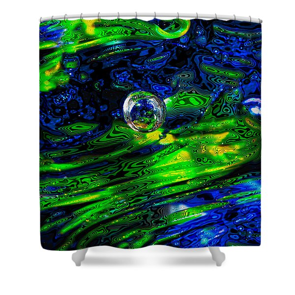 A Splash Of Seahawks Shower Curtain