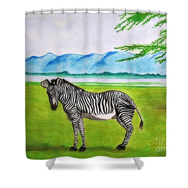A Striped Chap Shower Curtain