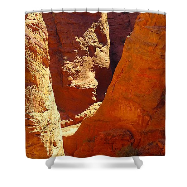A Sun Soaked Dry Gulch Shower Curtain