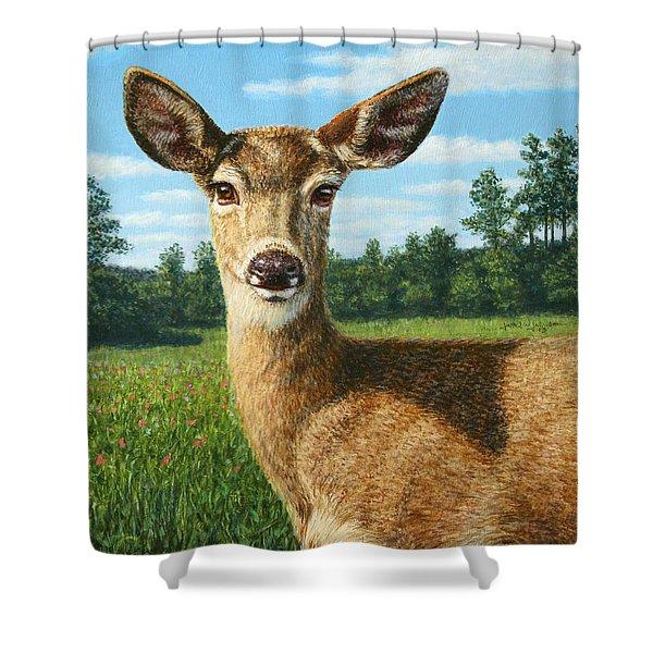 A Sunny Doe Shower Curtain