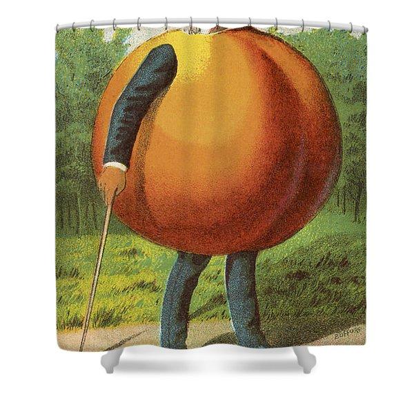 A Swell Peach Shower Curtain