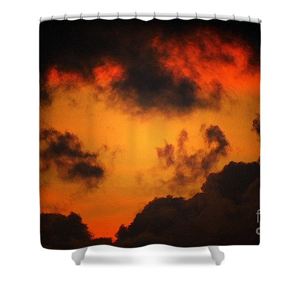 A Textured Morning Shower Curtain