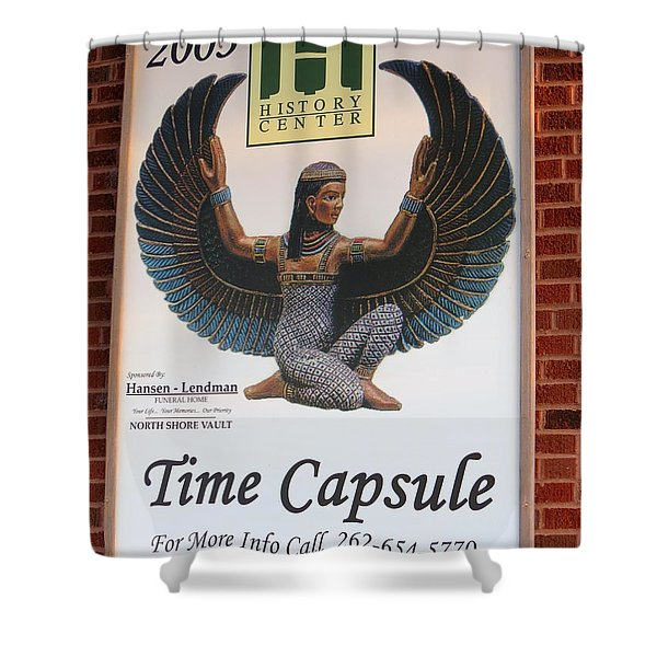 A Time Capsule Shower Curtain