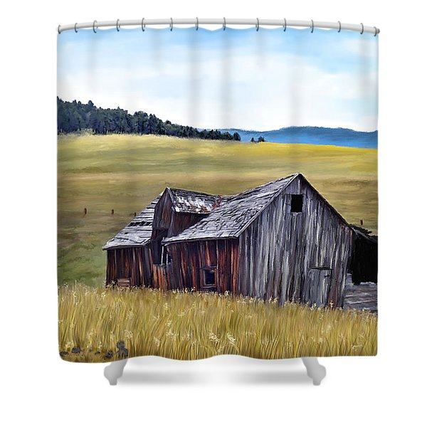 A Time In Montana Shower Curtain