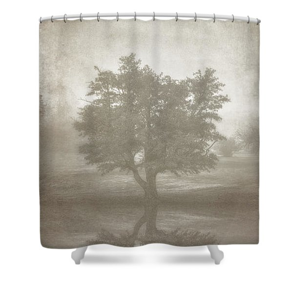 A Tree In The Fog 3 Shower Curtain