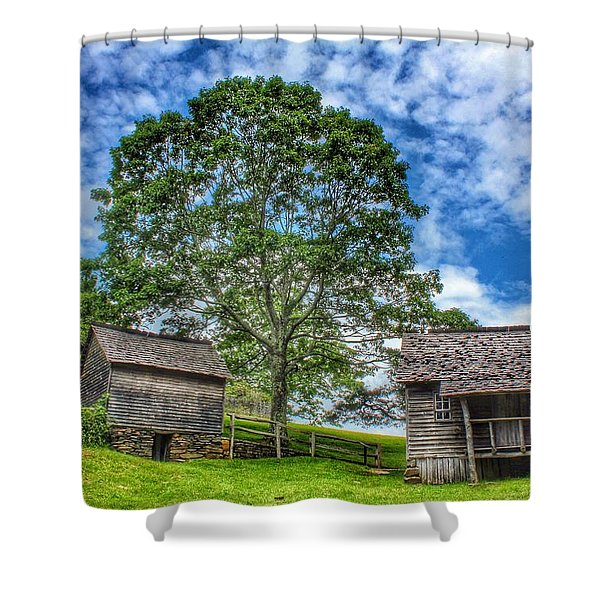 A Trip Back In Time Shower Curtain