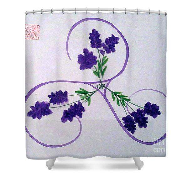 A Triskele Of Lavender Shower Curtain