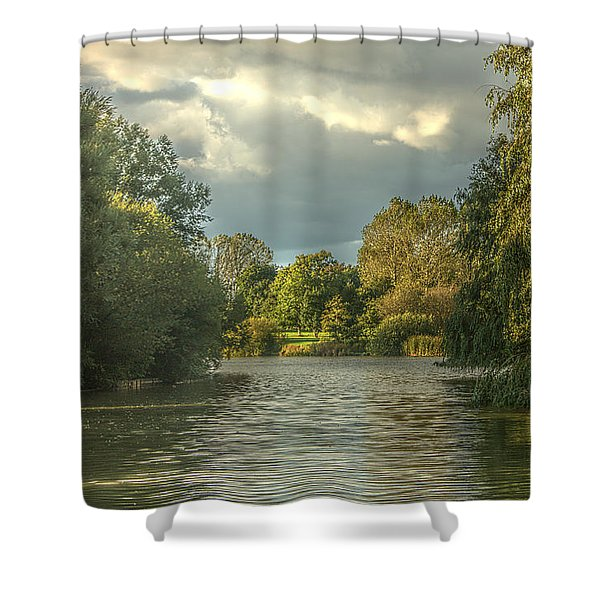 A View Down The Lake Shower Curtain