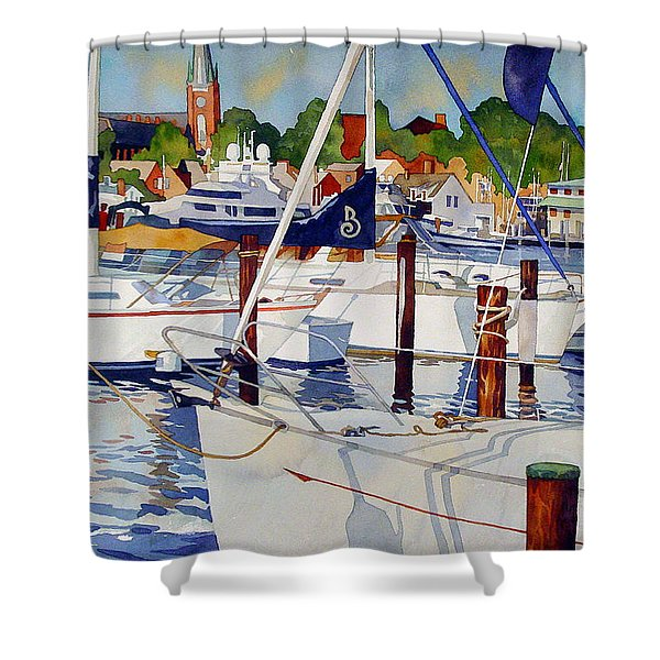 A View From The Pier Shower Curtain