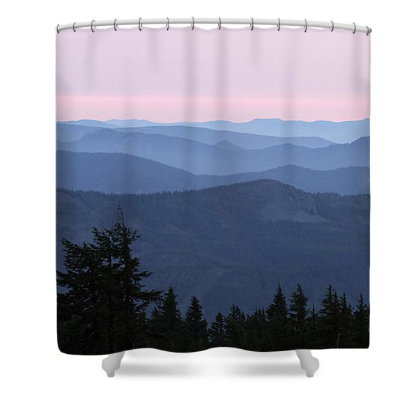 A View From Timberline Shower Curtain