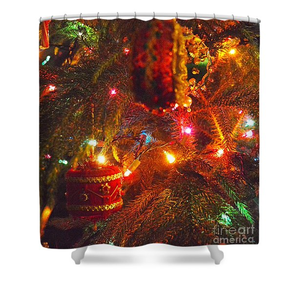 Shower Curtain featuring the photograph A Vintage Christmas  by Laurie Lundquist