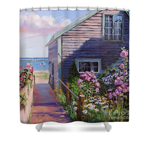 A Visit To P Town Two Shower Curtain