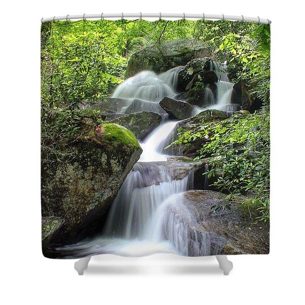 A Walk Along The Jacob Fork Shower Curtain