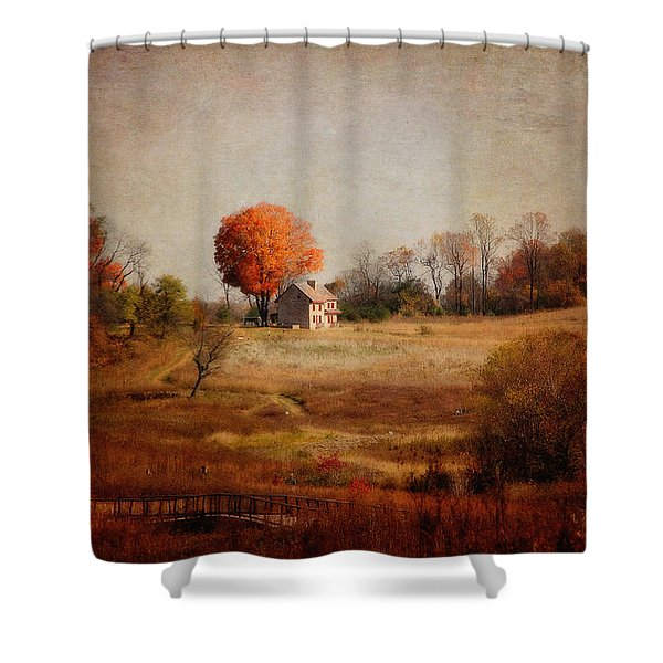 A Walk In The Meadow With Texture Shower Curtain