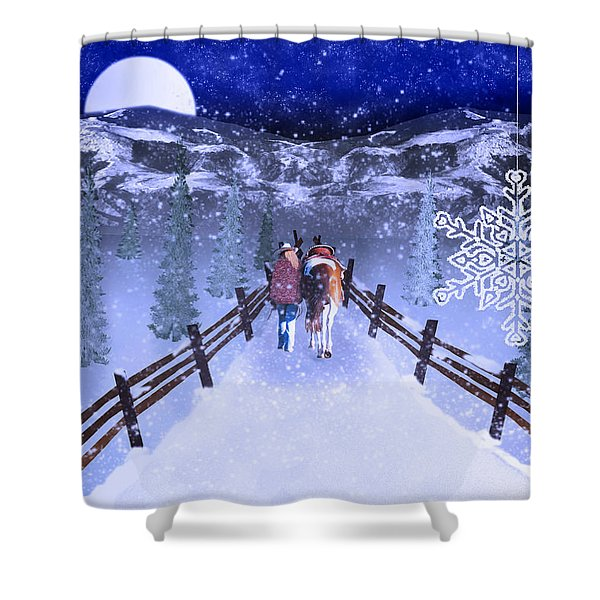 A Walk In The Snow 2 Shower Curtain