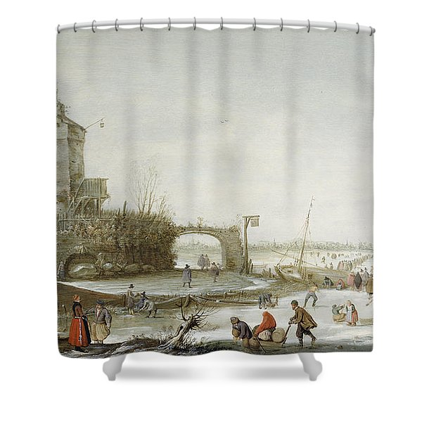 A Winter Landscape Shower Curtain