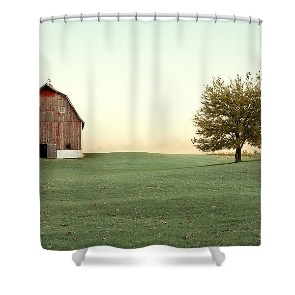 A Wisconsin Postcard Shower Curtain