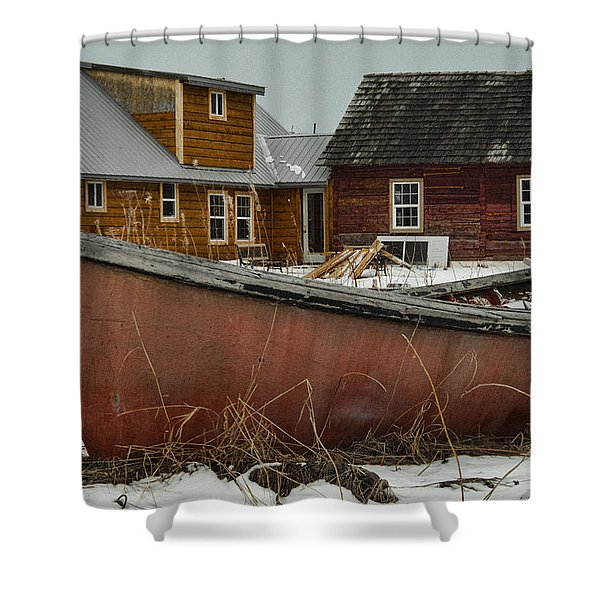 Abandoned Boat Shower Curtain