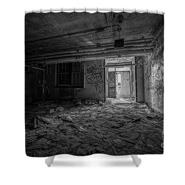 Abandoned Bw Shower Curtain