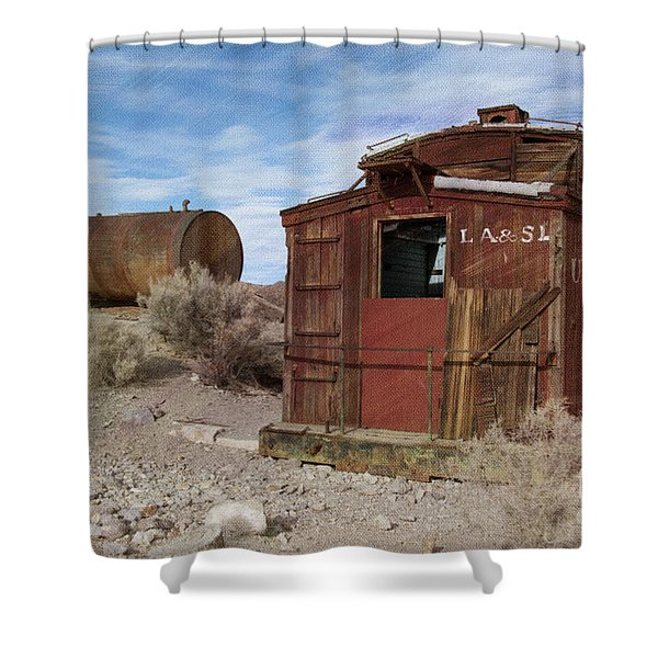Abandoned Caboose Shower Curtain