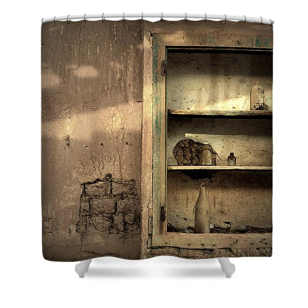 Abandoned Kitchen Cabinet Shower Curtain