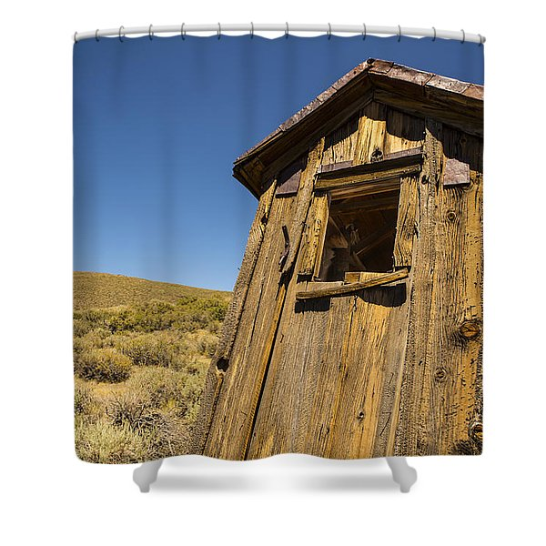 Abandoned Outhouse Shower Curtain