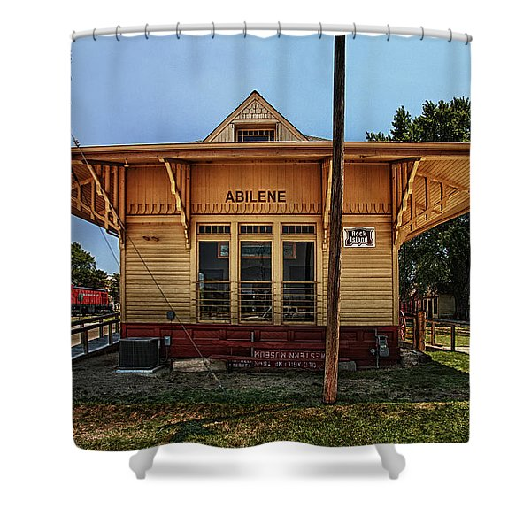 Shower Curtain featuring the photograph Abilene Station by Mary Jo Allen