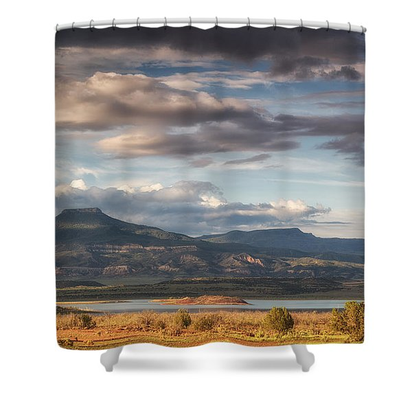 Abiquiu New Mexico Pico Pedernal In The Morning Shower Curtain