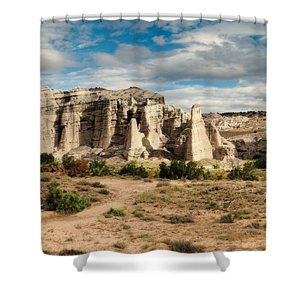 Abiquiu New Mexico Plaza Blanca In Technicolor Shower Curtain