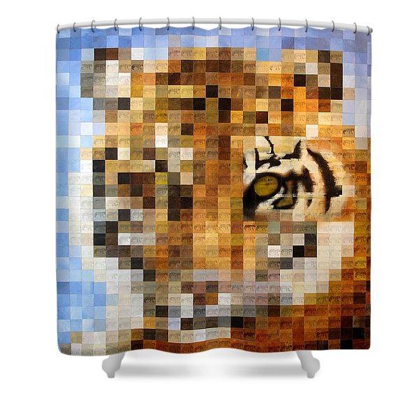 About 400 Sumatran Tigers Acrylic On Paper Shower Curtain